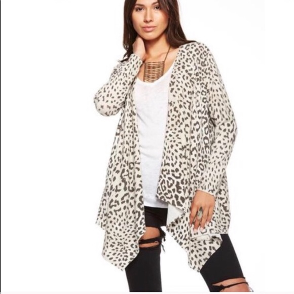 2385145daeb2 Chaser Sweaters   Open Front Cardigan Cheetah Animal Print S   Poshmark